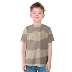 Pattern Wave Beige Brown Kids  Cotton Tee