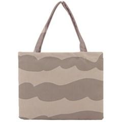 Pattern Wave Beige Brown Mini Tote Bag