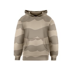 Pattern Wave Beige Brown Kids  Pullover Hoodie