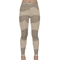 Pattern Wave Beige Brown Classic Yoga Leggings