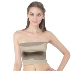 Pattern Wave Beige Brown Tube Top
