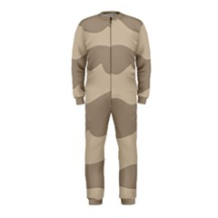 Pattern Wave Beige Brown Onepiece Jumpsuit (kids)