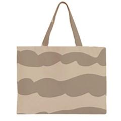 Pattern Wave Beige Brown Large Tote Bag