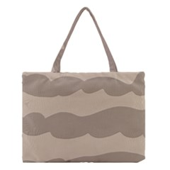 Pattern Wave Beige Brown Medium Tote Bag