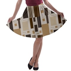 Pattern Wallpaper Patterns Abstract A Line Skater Skirt