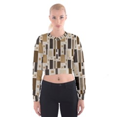 Pattern Wallpaper Patterns Abstract Cropped Sweatshirt