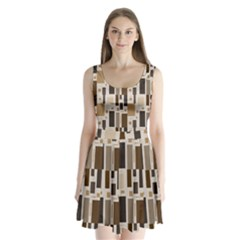 Pattern Wallpaper Patterns Abstract Split Back Mini Dress