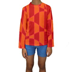 Background Texture Pattern Colorful Kids  Long Sleeve Swimwear