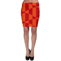 Background Texture Pattern Colorful Bodycon Skirt