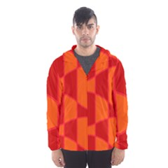 Background Texture Pattern Colorful Hooded Wind Breaker (men)