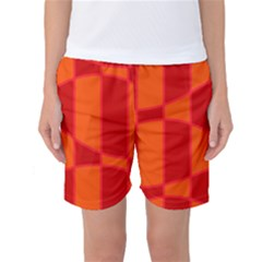 Background Texture Pattern Colorful Women s Basketball Shorts