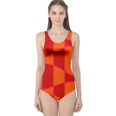 Background Texture Pattern Colorful One Piece Swimsuit