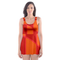 Background Texture Pattern Colorful Skater Dress Swimsuit