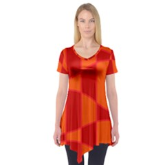 Background Texture Pattern Colorful Short Sleeve Tunic