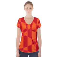 Background Texture Pattern Colorful Short Sleeve Front Detail Top