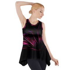 Pattern Design Abstract Background Side Drop Tank Tunic