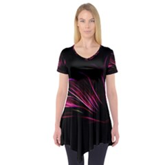 Pattern Design Abstract Background Short Sleeve Tunic