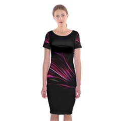 Pattern Design Abstract Background Classic Short Sleeve Midi Dress