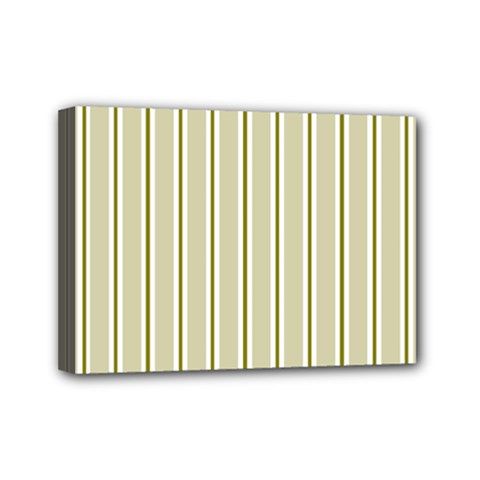 Pattern Background Green Lines Mini Canvas 7  x 5