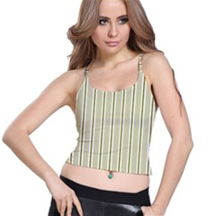 Pattern Background Green Lines Spaghetti Strap Bra Top