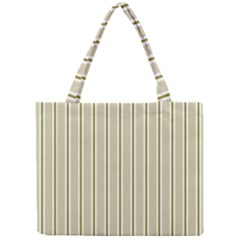 Pattern Background Green Lines Mini Tote Bag