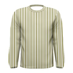 Pattern Background Green Lines Men s Long Sleeve Tee