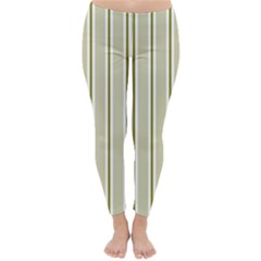 Pattern Background Green Lines Classic Winter Leggings