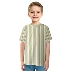 Pattern Background Green Lines Kids  Sport Mesh Tee