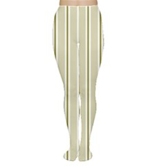 Pattern Background Green Lines Women s Tights