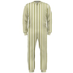 Pattern Background Green Lines OnePiece Jumpsuit (Men)