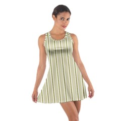 Pattern Background Green Lines Cotton Racerback Dress