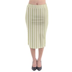 Pattern Background Green Lines Midi Pencil Skirt