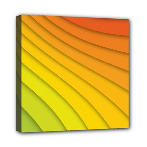 Abstract Pattern Lines Wave Mini Canvas 8  X 8