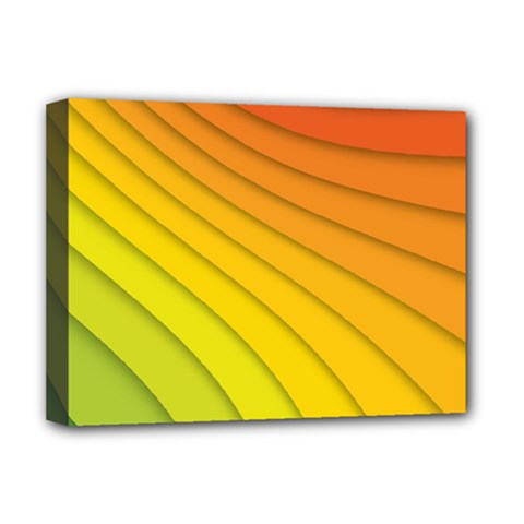 Abstract Pattern Lines Wave Deluxe Canvas 16  x 12