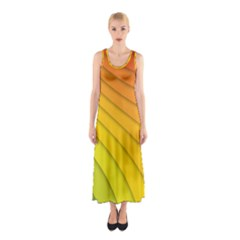 Abstract Pattern Lines Wave Sleeveless Maxi Dress