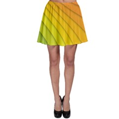 Abstract Pattern Lines Wave Skater Skirt