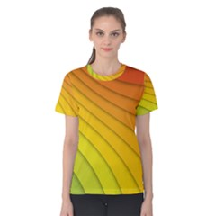 Abstract Pattern Lines Wave Women s Cotton Tee