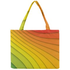 Abstract Pattern Lines Wave Mini Tote Bag