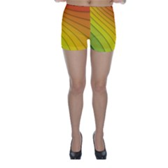 Abstract Pattern Lines Wave Skinny Shorts