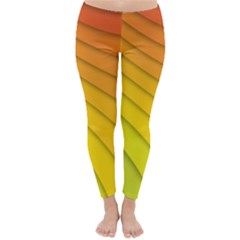 Abstract Pattern Lines Wave Classic Winter Leggings