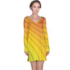 Abstract Pattern Lines Wave Long Sleeve Nightdress