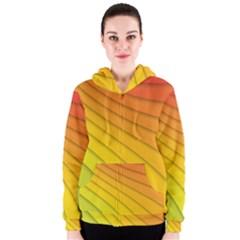 Abstract Pattern Lines Wave Women s Zipper Hoodie
