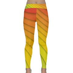 Abstract Pattern Lines Wave Classic Yoga Leggings