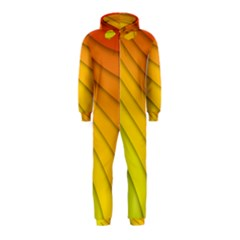 Abstract Pattern Lines Wave Hooded Jumpsuit (Kids)