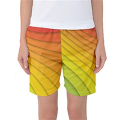 Abstract Pattern Lines Wave Women s Basketball Shorts