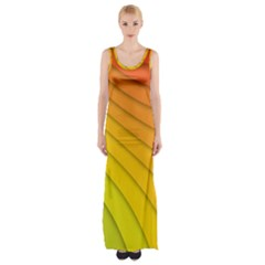 Abstract Pattern Lines Wave Maxi Thigh Split Dress