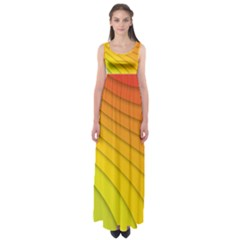 Abstract Pattern Lines Wave Empire Waist Maxi Dress