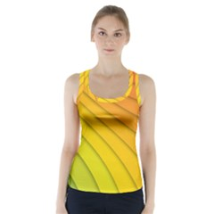 Abstract Pattern Lines Wave Racer Back Sports Top
