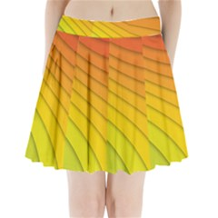Abstract Pattern Lines Wave Pleated Mini Skirt
