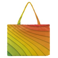 Abstract Pattern Lines Wave Medium Zipper Tote Bag